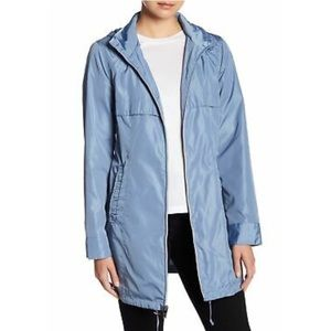 New Via Spiga Babydoll Hooded Raincoat